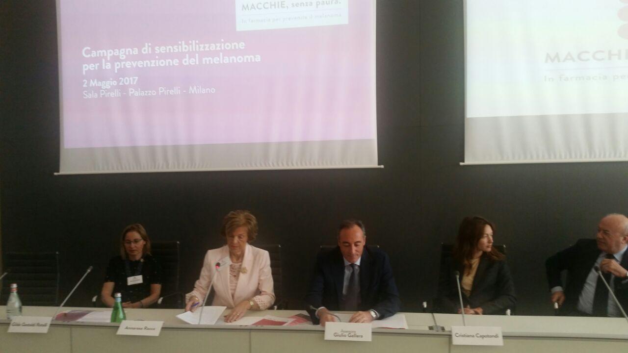 Conferenza Stampa Federfarma prevenzione melanoma